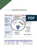 Antibiotic Classification & Mechanism 2019-6-25