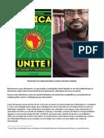 Amzat Boukari-Yabara - ''A história contemporânea da África é a história do Pan-Africanismo''...