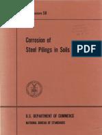 Corrosion of steel piling in soil