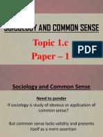 Topic 1.c - Socio and Common Sense