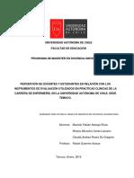 PERCEPCIÓN DE DOCENTES Y ESTUDIANTES EN RELACIÓN CON LOS INSTRUMENTOS DE EVALUACIÓN UTILIZADOS EN PRÁCTICAS CLÍNICAS DE LA CARRERA DE ENFERMERÍA, EN LA UNIVERSIDAD AUTÓNOMA DE CHILE, SEDE TEMUCO
