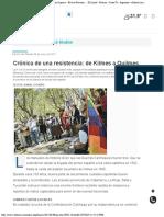 Crónica de una resistencia de Kilmes a Quilmes