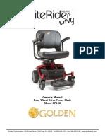 Golden - Owners's Manual - LiteRider Envy (1)