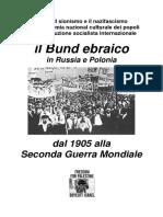Il Bund Ebraico in Russia e Polonia Dal 1905 Alla Seconda Guerra Mondiale