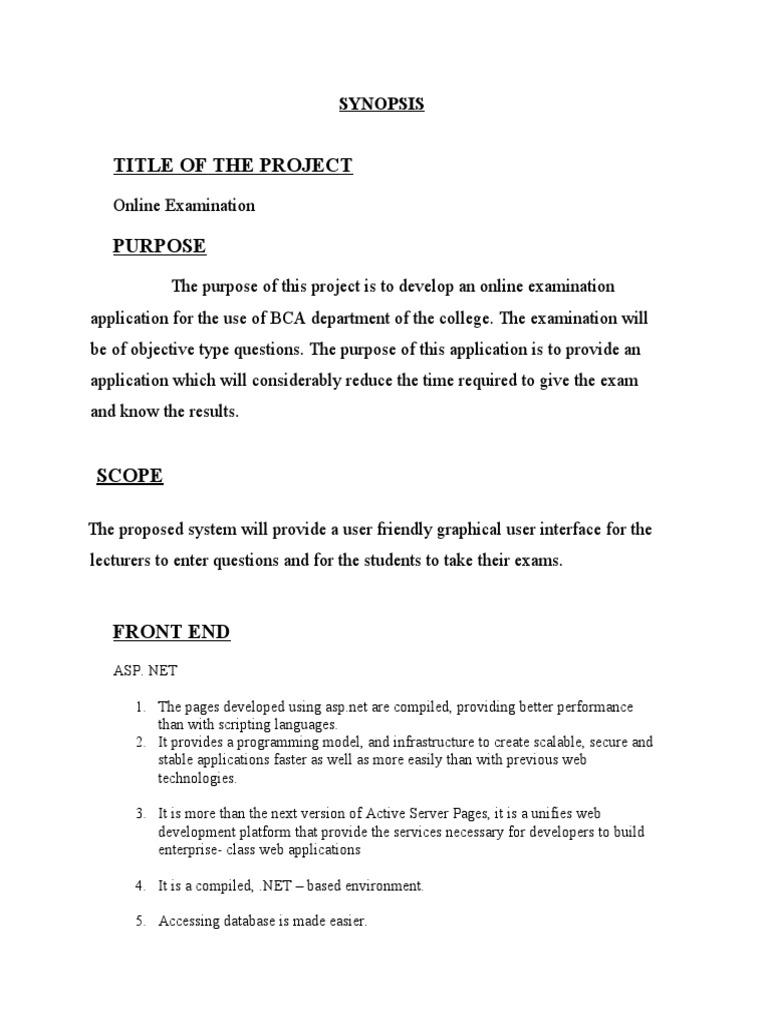 Examination of project documentation 25