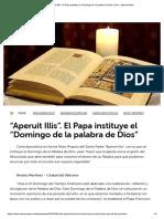 """Aperuit Illis"". El Papa instituye el ""Domingo de la palabra de Dios"" print - Vatican News"
