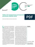 Índice de Transparencia Presupuestaria de las provincias
