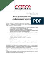 Unearte Proyecto de investigación natural circunstancial Guía de elaboración 2019