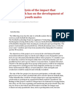 critical analysis of the impact that project work has on the development of football for youth males