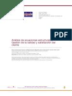 analisis de ecuaciones estructurales destion de calidad y sagtisfaccion del cliente