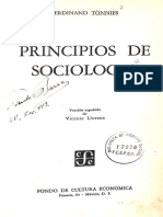 TÖNNIES, Ferdinand - Principios de sociologia