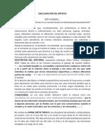 DECLARACION DE ARTISTA - j.Ortiz