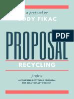 fuschia dark grey photo circle marketing proposal