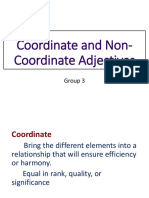 Coordinate and Non Coordinate Adjectives