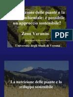 Zeno Varanini, presentazione seminario Agricoltura e Ambiente