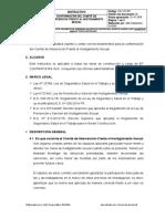 INS.SST.003 CONFORMACIÓN DEL COMITÉ DE INTERVENCIÓN HOSTIGAMIENTO SEXUAL