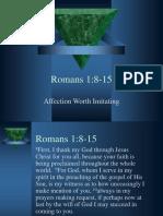 Romans 1.8-15 Notes