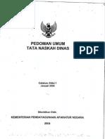 2003 KEP MENPAN 007 Ped Umum Takah Dinas