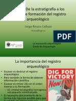 Presentación - Estratigrafía y Registro Arqueológico