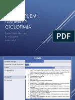 CICLOTIMIA Y DISTIMIA