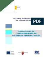 GUIA OPERACIONES DE TRANSFORMACION DE POLIMEROS TERMOPLASTICOS