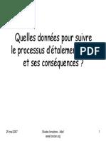 ADEF - 2007 - Quelles données pour suivre le processus d'étalement urbain et ses conséquences