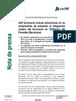 Nota de premsa de ADIF