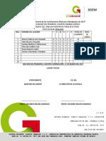 TABLA DE REGISTRO DE LECTURA