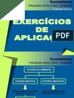 Exercícios de aplicação-interações seres vivos-ambiente