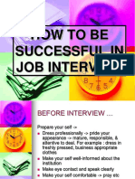 HOW TO BE SUCCESSFUL IN JOB INTERVIEW.ppt