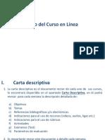 Funcionamiento del Curso de Posgrado Cuatrimestral 19-1