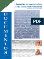 Argentina, retrocesos cíclicos de una soc movimientista
