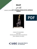 Ordem Cosmica e Justica Social no Egito Antigo