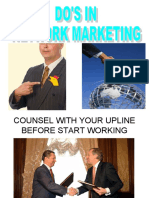 Do's in Network Marketing