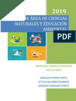 PLAN DE AREA CIENCIAS NATURALES - 2019