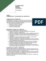 GERENCIA. TEMA II. FORMULACION Y EVALUACION DE PROYECTOS.-convertido