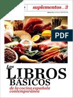 Los libros básicos de la cocina española contemporánea