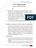Law on Taxation Review.-chapter 1