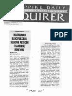 Philippine Daily Inquirer, Jan. 28, 2020, Makabayan bloc files bill seeking ABS-CBN franchise renewal.pdf