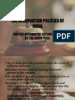 thereservationpoliciesofindia-161219173430