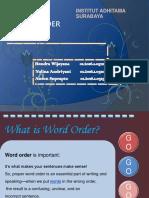 word order english