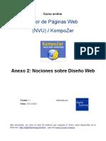 """Nociones de Diseño Web (Anexo2 del Curso """"editor páginas web KompoZer"""")"""