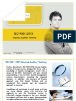 ISO 9001 Internal Auditor Training Brochure