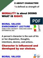 2018 Sept. 08 ISU Moral Values lecture