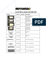 Motor Vac coolantclean_iii_adapter_list