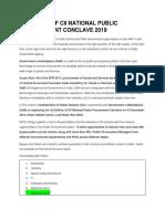 3RDEDITION OF CII NATIONAL PUBLIC PROCUREMENT CONCLAVE 2019