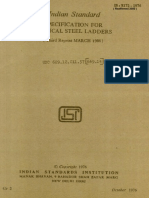 Is.8172.1976steel Ladder