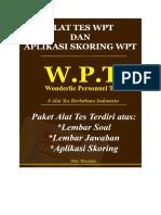 Psikotes WPT Lengkap Dengan Skoring WPT