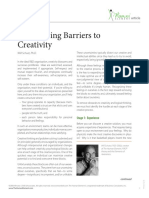 Overcoming Barriers to Creativity - The Human Element