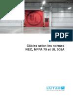 cables selon les normes-nec-nfpa79-ul508a